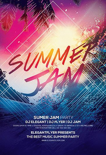 Summer Jam – Flyer PSD Template