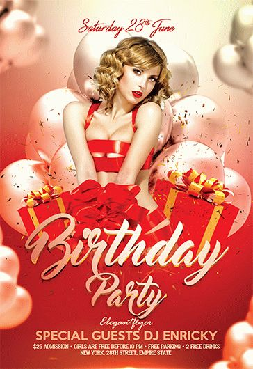 Free Birthday Bash And Party Flyer Templates  By Elegantflyer