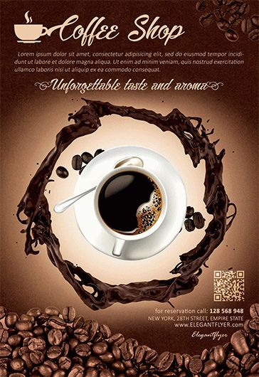 Coffee Shop – Flyer PSD Template