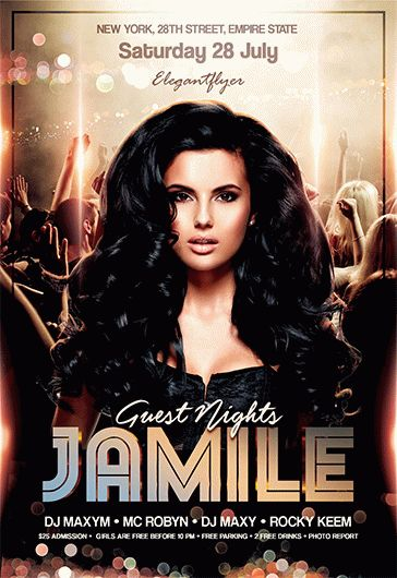 Guest Nights – Free Flyer PSD Template