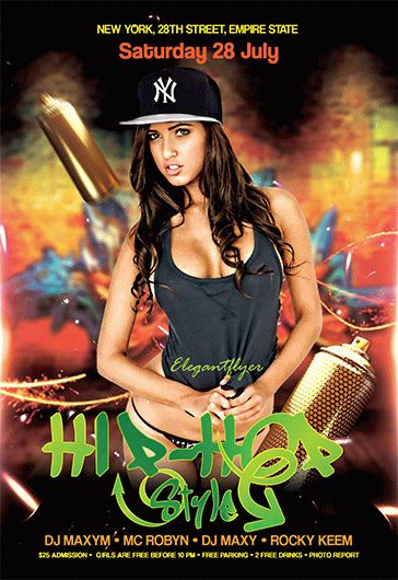 Free Printable Hip Hop Flyer Templates For Photoshop By Elegantflyer