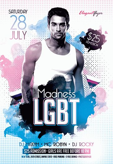LGBT Madness – Flyer PSD Template + Facebook Cover