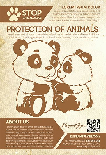 Protection of animals – Flyer PSD Template