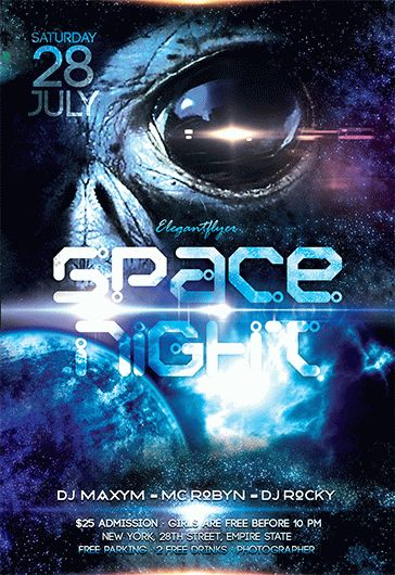 flyer space for night club  u2013 by elegantflyer