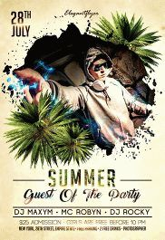 Summer Guest Of The Party – Flyer PSD Template + Facebook Cover