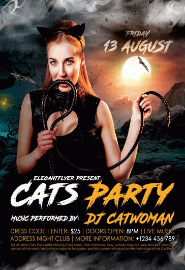 Free party flyer templates for photoshop by elegantflyer cats party free flyer psd template saigontimesfo