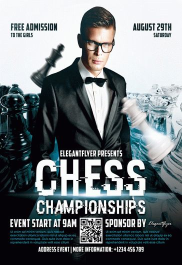 Chess Championships – Flyer PSD Template