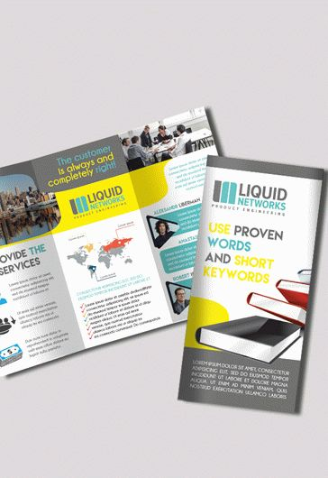 Free corporate tri fold brochure template by elegantflyer for 2 fold brochure template psd