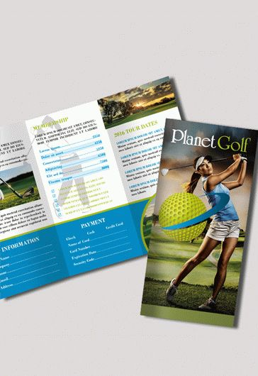 Golf Club – Free PSD Tri-Fold PSD Brochure Template