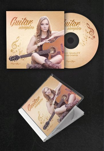 Guitar Samples – Free CD Cover PSD Template