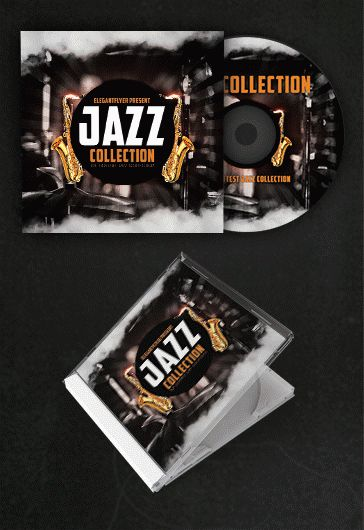 Jazz – Free CD Cover PSD Template