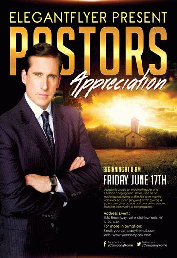 Pastors Appreciation Church – Flyer PSD Template + Facebook Cover
