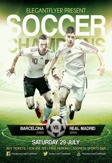 soccer champions  u2013 flyer psd template  u2013 by elegantflyer