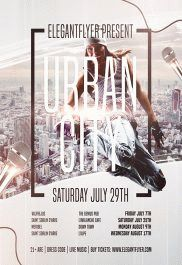 Urban City – Flyer PSD Template + Facebook Cover