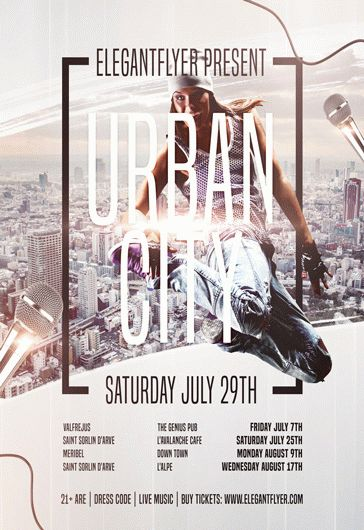 Urban Drum And Bass – Flyer PSD Template + Facebook Cover