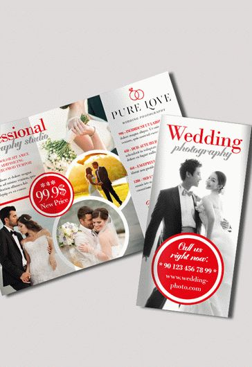 Wedding Photography Tri-Fold PSD Template