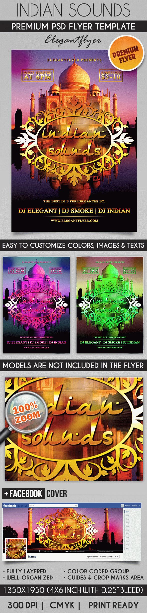 Indian Sounds – Flyer PSD Template