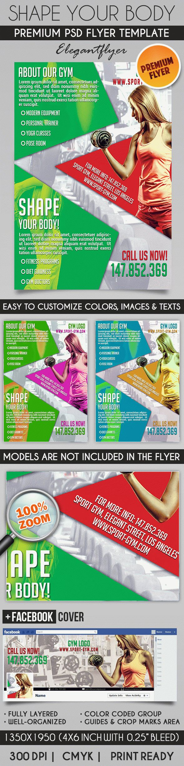 Shape Your Body – Flyer PSD Template