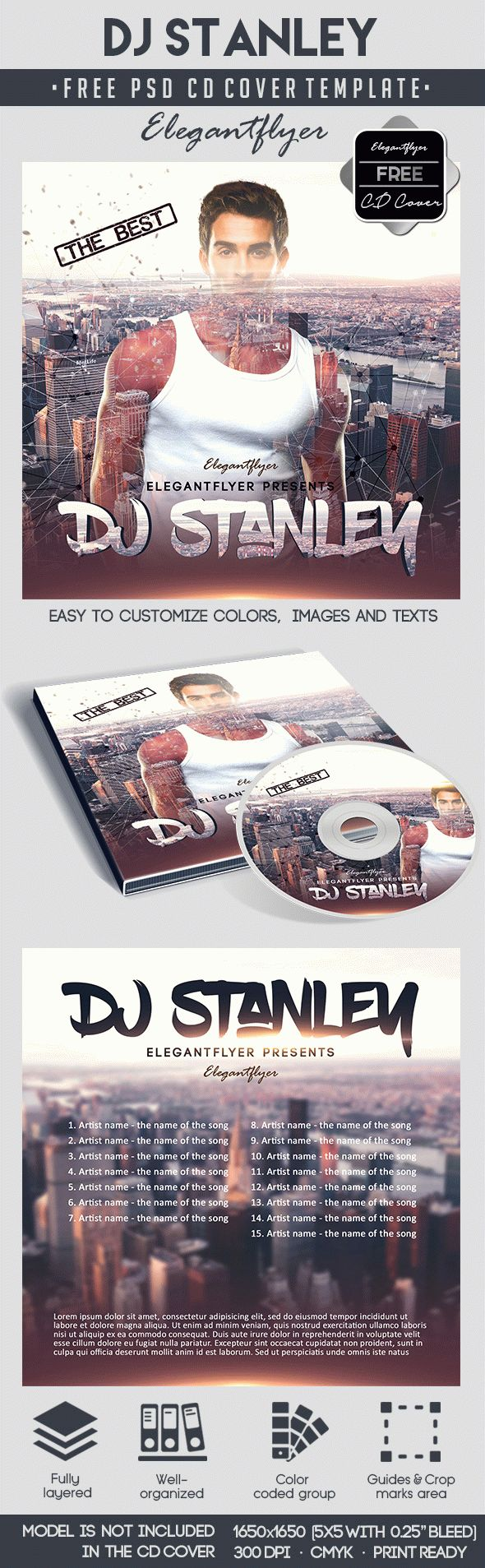 DJ Stanley – Free CD Cover PSD Template
