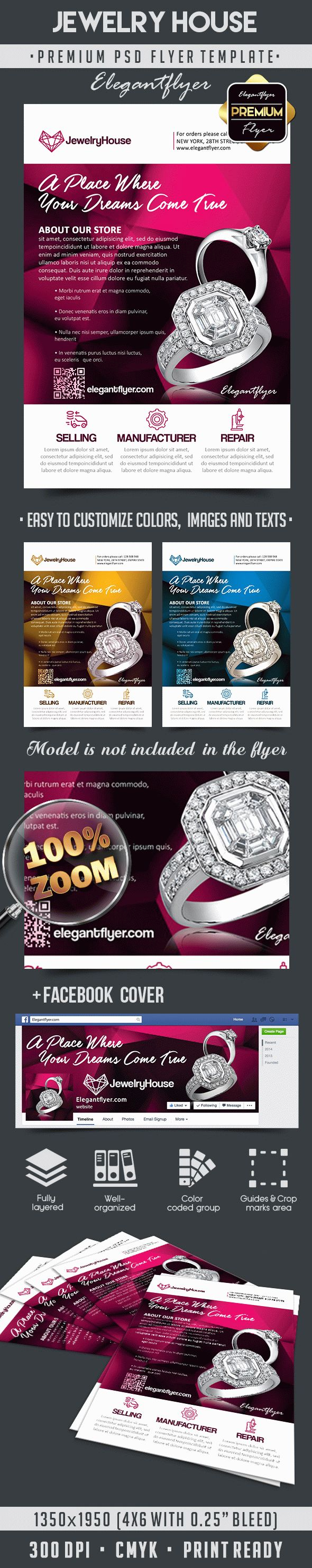 Jewelry House Flyer Psd Template By Elegantflyer