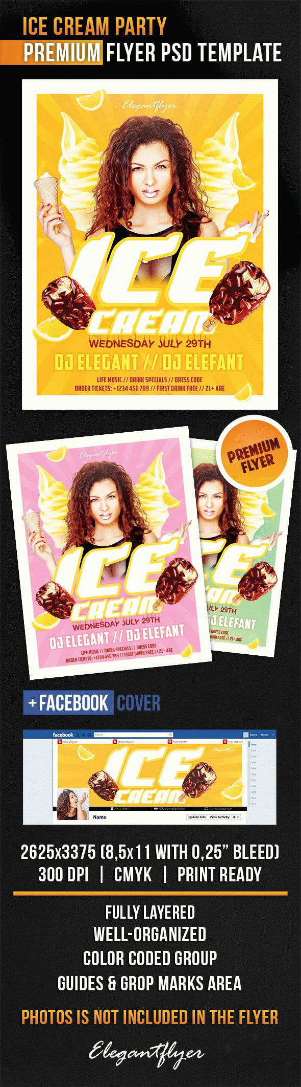 Flyer For Ice Cream Party