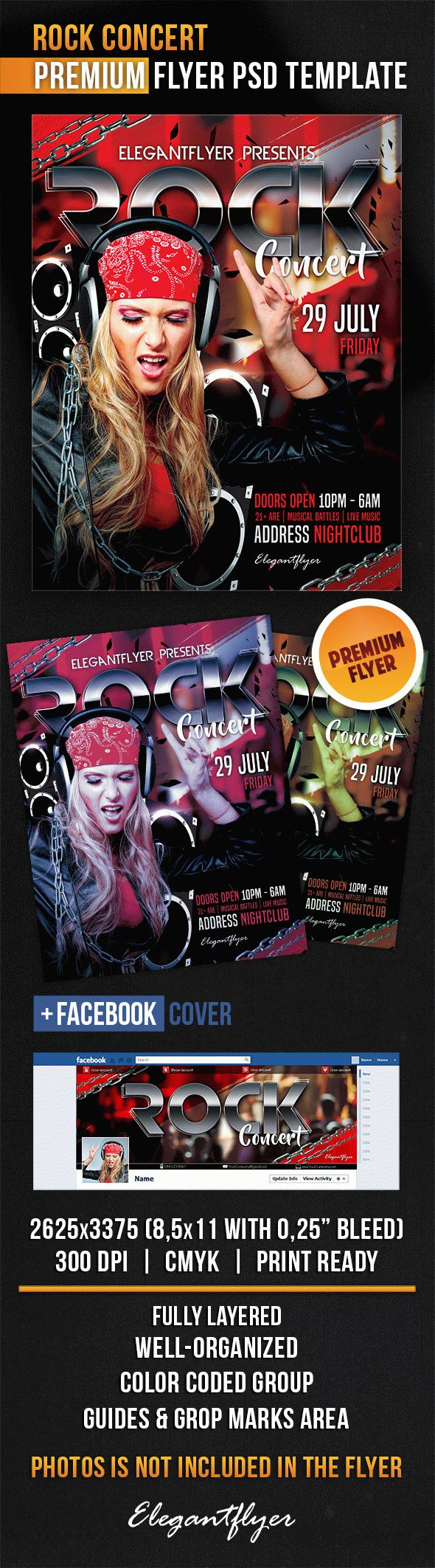 Rock Concert Flyer Template