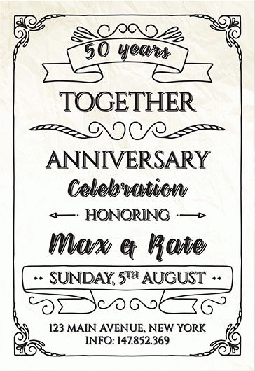 Anniversary Invitation – Flyer PSD Template