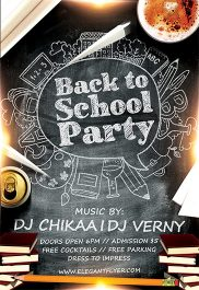 Back to School Party – Flyer PSD Template + Facebook Cover