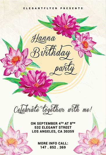 Birthday Party Invitations Templates