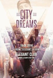 City Dreams – Flyer PSD Template + Facebook Cover
