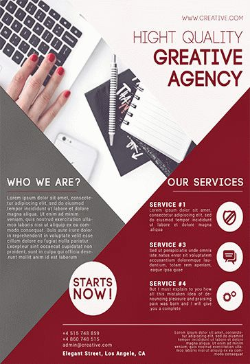 Creative Agency – Flyer PSD Template + Facebook Cover