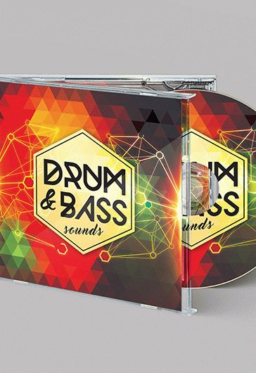 Drum & Bass Sound – Free CD Cover PSD Template