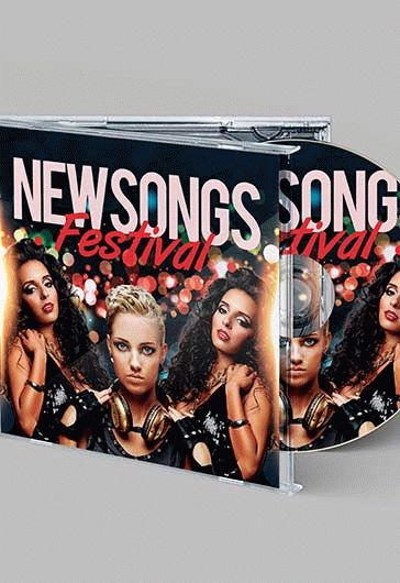 New Songs – Free CD Cover PSD Template