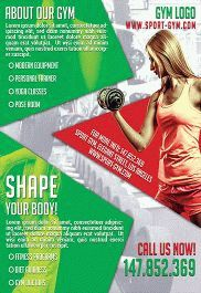 Shape Your Body – Flyer PSD Template + Facebook Cover