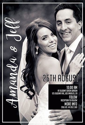 Couples Wedding Shower Invitation PSD Flyer