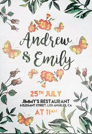 Wedding Invitation – Flyer PSD Template + Facebook Cover