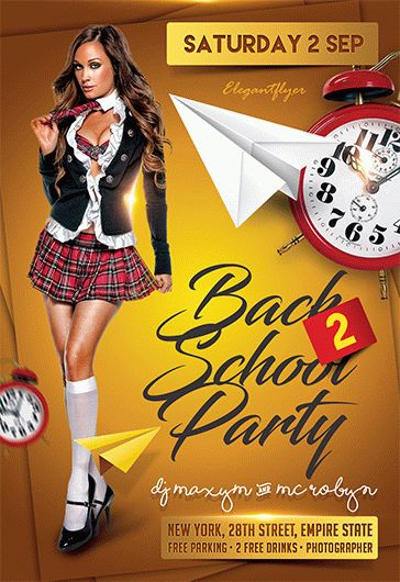 Back to School Party V02 – Flyer PSD Template