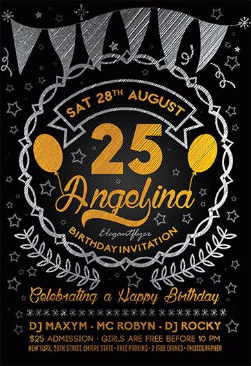 Birthday Invitation Flyer Template