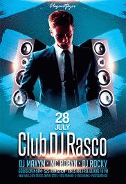 Club DJ Rasco – Flyer PSD Template + Facebook Cover
