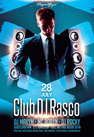 Club DJ Rasco – Flyer PSD Template