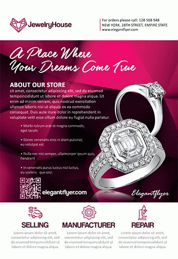 Jewelry House – Flyer PSD Template