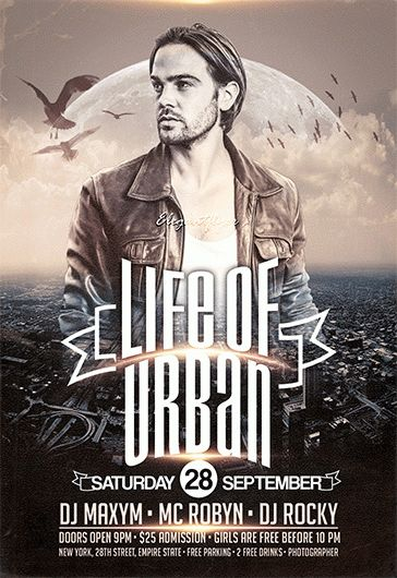 Life Of Urban – Flyer PSD Template