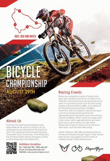 Bicycle – Flyer PSD Template + Facebook Cover