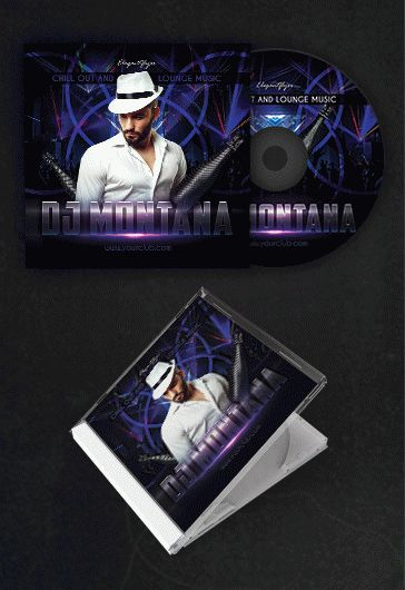dj album  u2013 free cd cover psd template  u2013 by elegantflyer