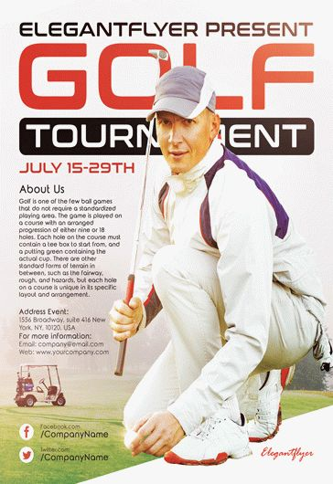 Golf – Flyer PSD Template