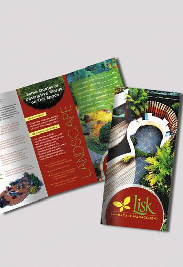 Free PSD Brochure for Landscape Design