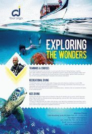 Ocean Diving – Flyer PSD Template + Facebook Cover