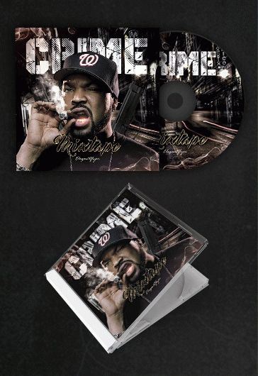 Rap Crime Mixtape – Free CD Cover PSD Template