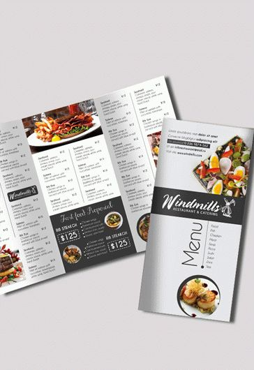 Cafe Menu  Free BiFold Psd Brochure Template Food Menu  By