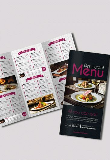 Template Brochure for Restaurant